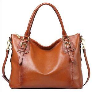 Handbags - Leather handbag tote crossbody